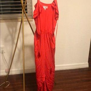 Red Purple Maxi Beautiful Long Dress Size Small